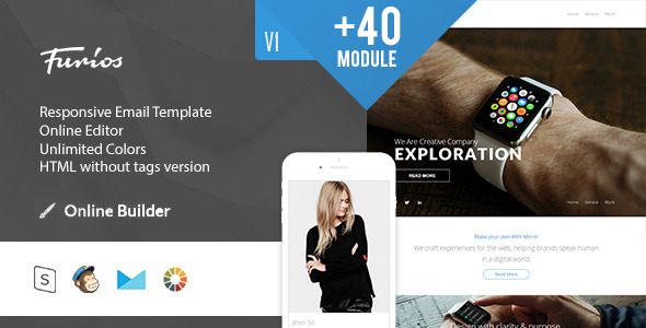 Furios- Modern Email Template + Online Access