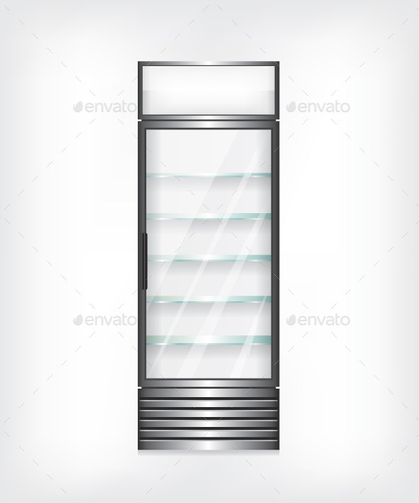 Refrigerator with Glass Shelves