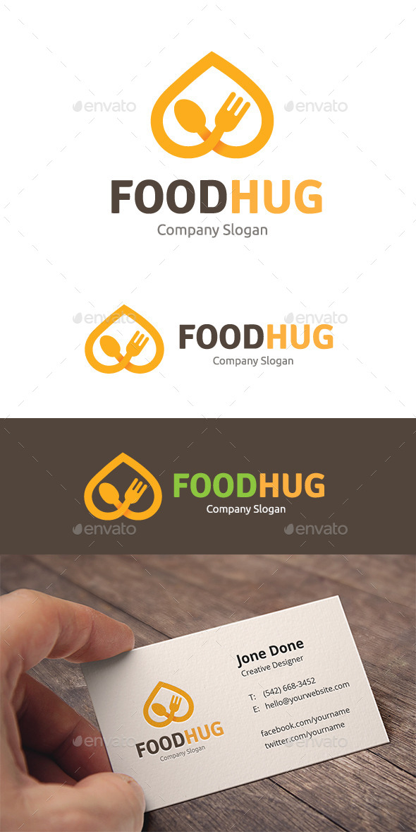Food Hug - Food Logo Templates