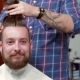 Beard Barber Making Haircut To Hipster Client - VideoHive Item for Sale