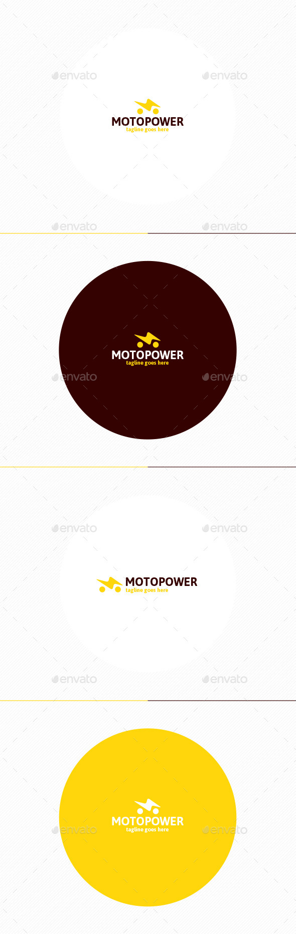 Moto Power Logo - Symbols Logo Templates