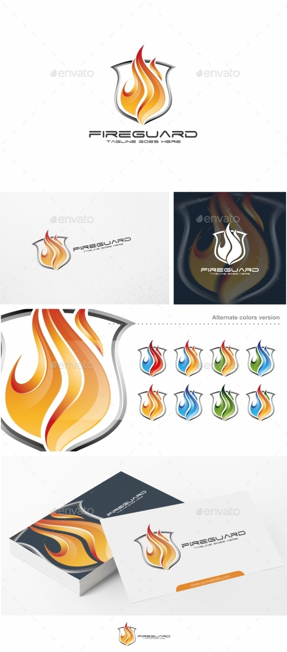Fire Guard - Logo Template - Symbols Logo Templates