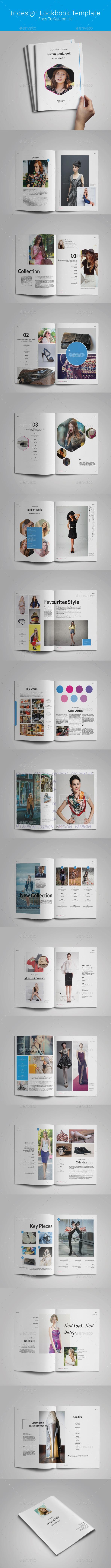 Lookbook Template - Magazines Print Templates