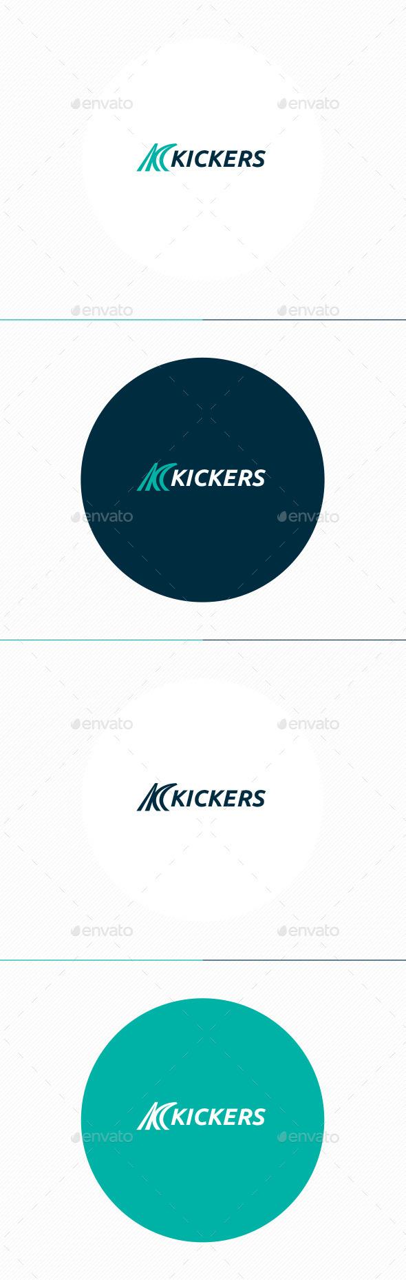Kickers Logo • Letter K - Letters Logo Templates