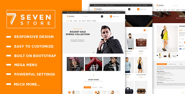 Seven Store – Responsive Shopify Theme – FREE Supoort