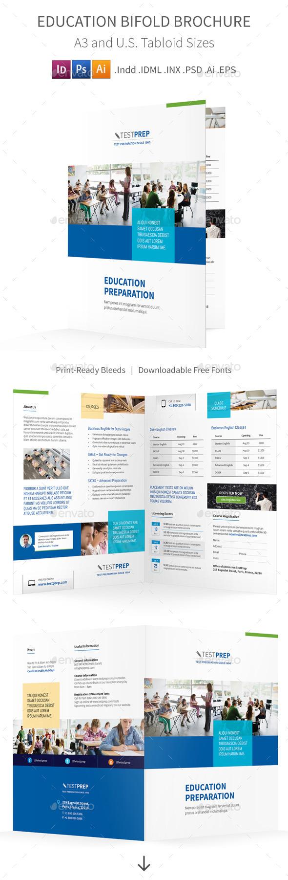Education Bifold / Halffold Brochure - Corporate Brochures