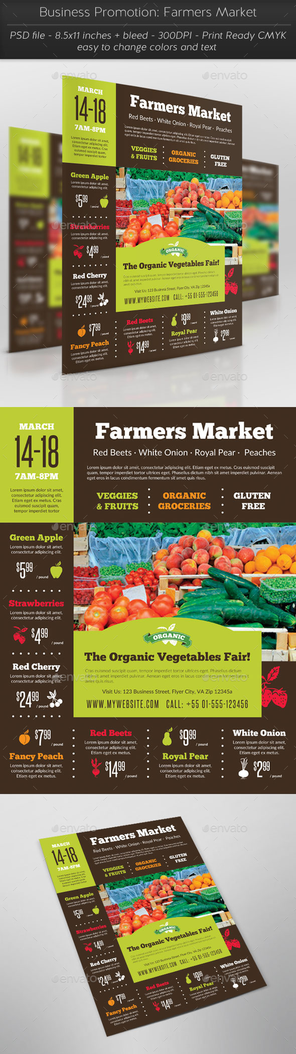 Business Promotion: Farmers Market - Commerce Flyers