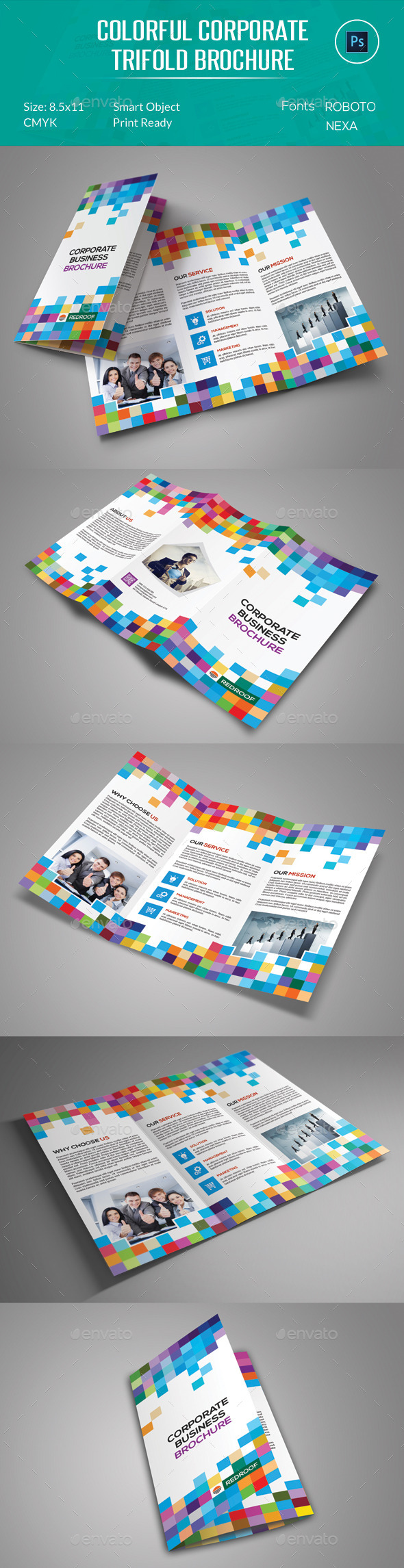 Colorful Corporate Trifold Brochure - Corporate Brochures