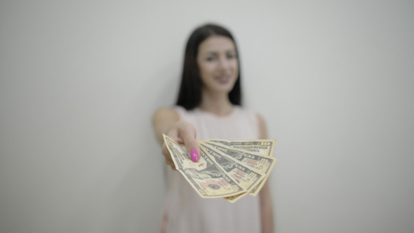 Girl Giving Money
