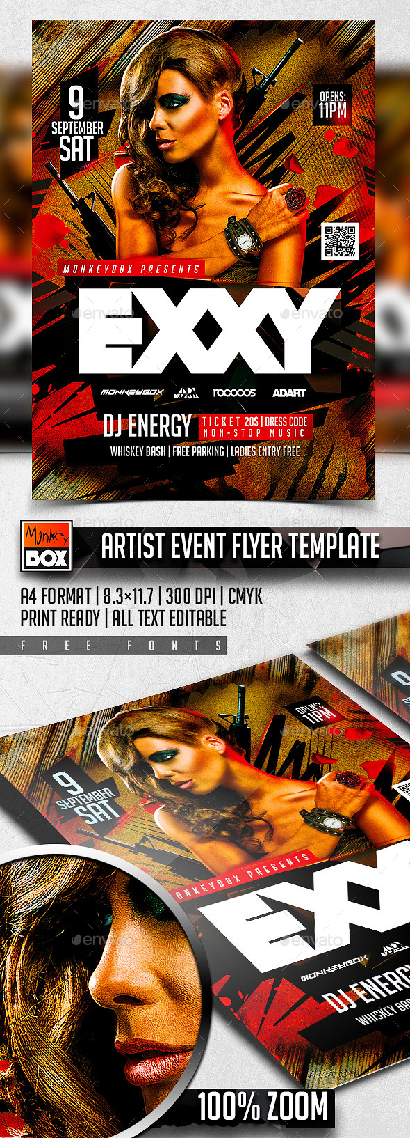 Artist Event Flyer Template - Clubs & Parties Events