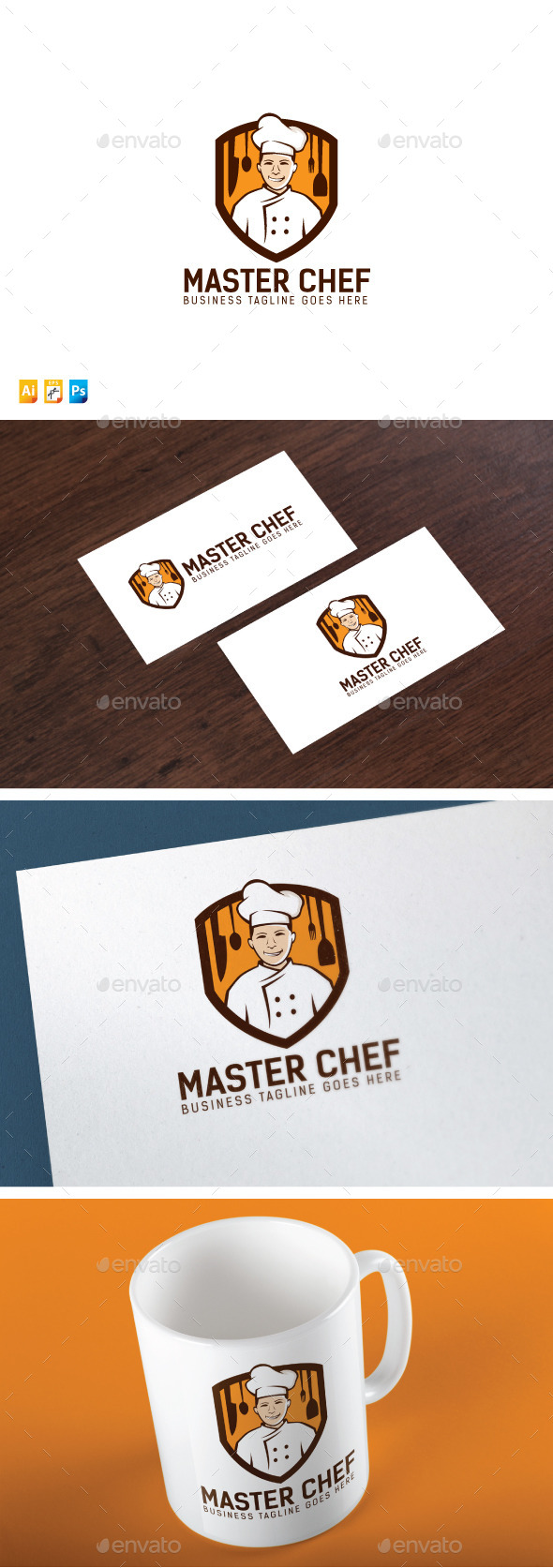 Master Chef - Humans Logo Templates