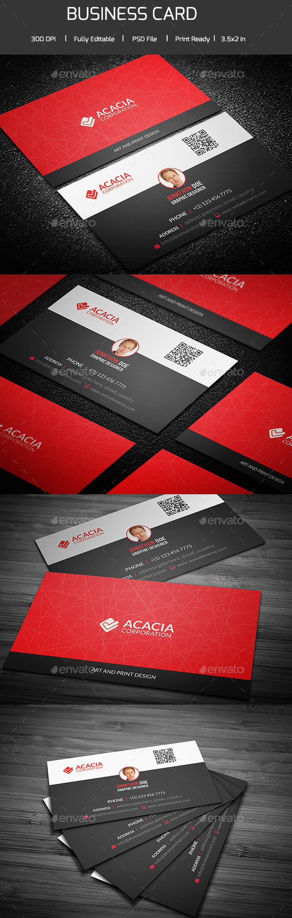 Simple and Clean Business Card V-02