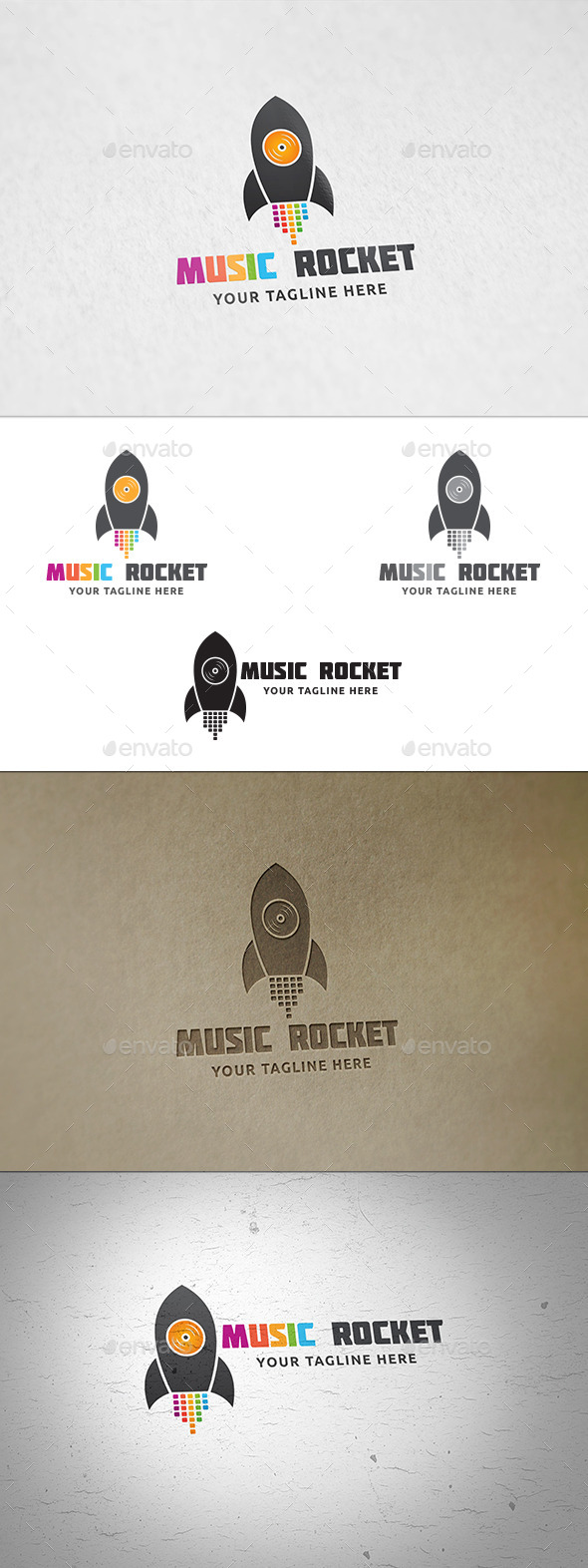 Music Rocket Logo - Symbols Logo Templates