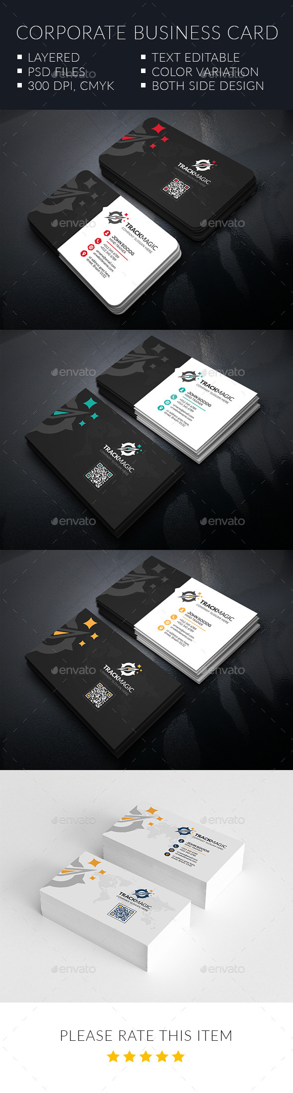 Track Magic Corporate Business Cards - Corporate Business Cards