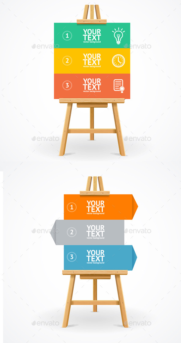 Wooden Easel Option Banner - Concepts Business