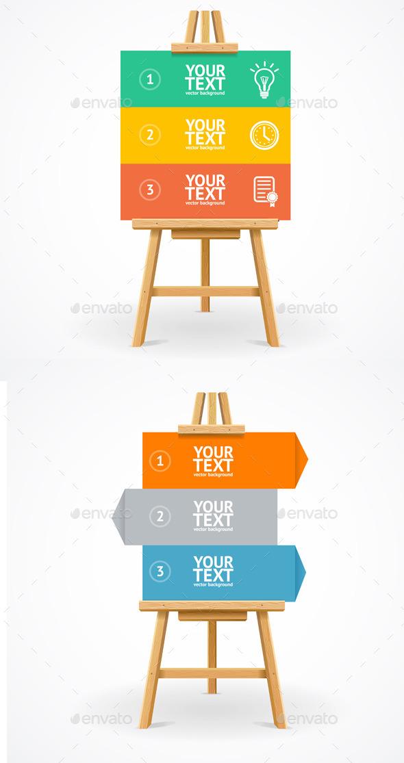 Wooden Easel Option Banner