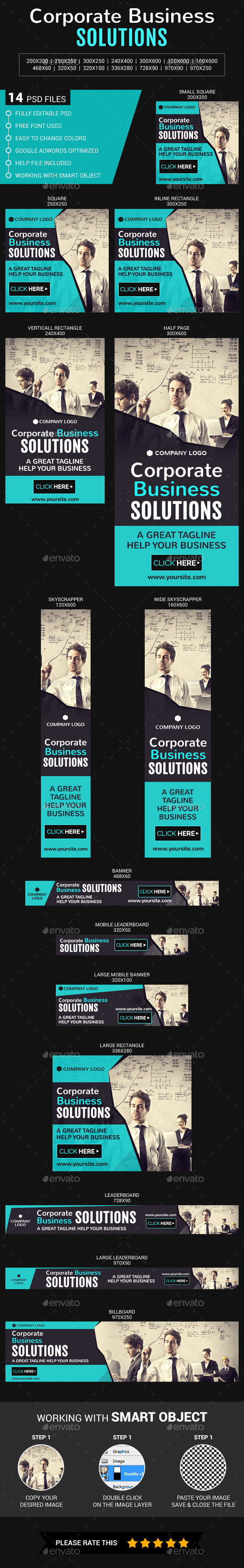 Corporate Business - Banners & Ads Web Elements