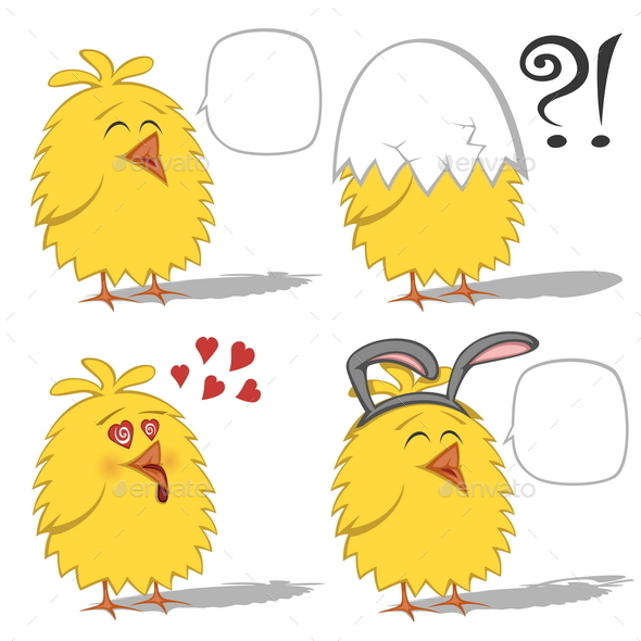 Cartoon Chickens - Animals Characters