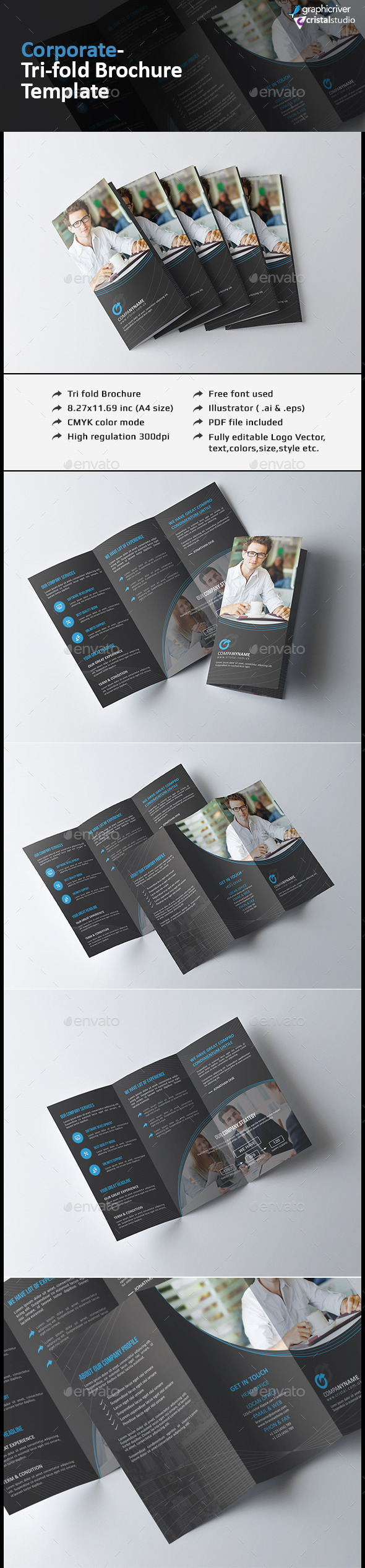 Elegant Tri-fold Brochure - Corporate Brochures