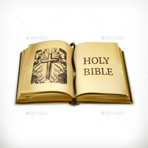 Open Holy Bible - Religion Conceptual