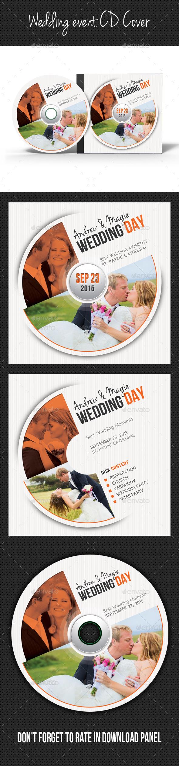 Wedding Event CD Cover V09 - CD & DVD Artwork Print Templates