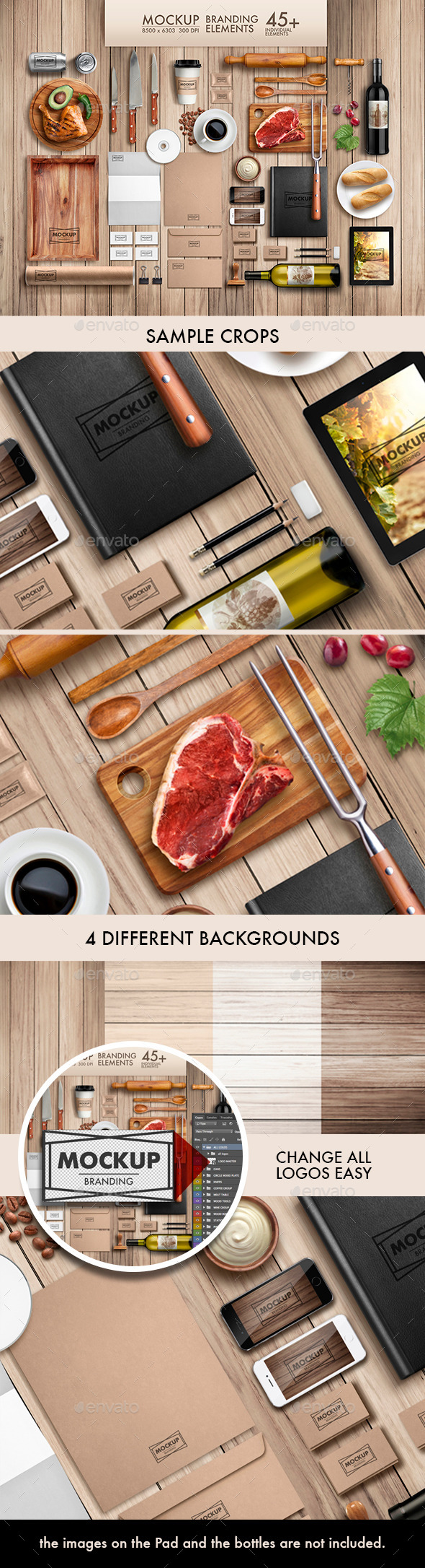 Branding Elements Mock-Up Vol 01 - Product Mock-Ups Graphics