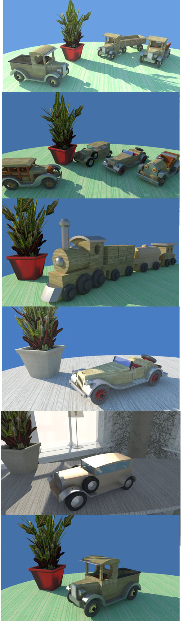 Wooden Toy Cars package - 3DOcean Item for Sale