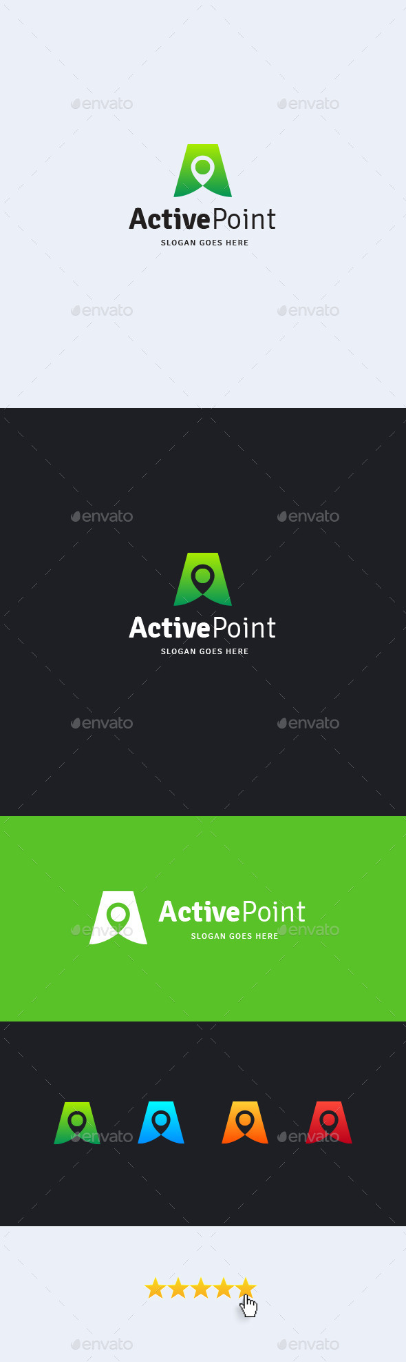 Active Point • Letter A Logo Template - Letters Logo Templates