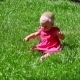 Baby Girl On a Grass - VideoHive Item for Sale