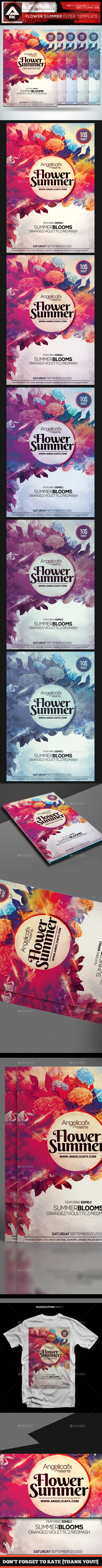 Flower Summer Flyer Template