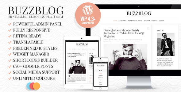 BuzzBlog – Clean & Personal WordPress Blog Theme