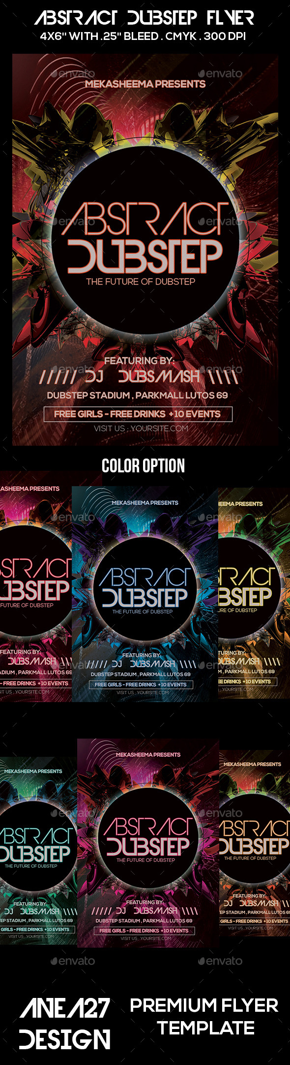 Abstract Dubstep Flyer - Clubs & Parties Events