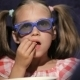 Beautiful Little Girl Waching Movie In The Cinema - VideoHive Item for Sale