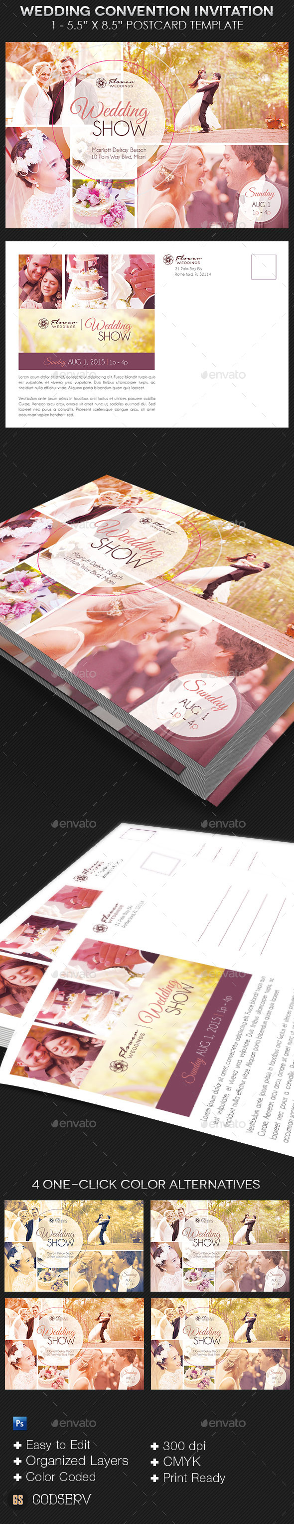 Wedding Convention Invitation Template - Invitations Cards & Invites