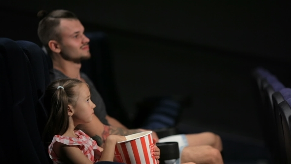 Elder Brother And Little Sister Are Watching Movie