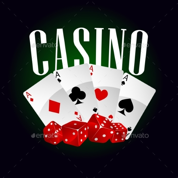 Casino Dice And Poker Cards - Conceptual Vectors
