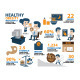 Healthy Infographics, Obesity Vector - GraphicRiver Item for Sale