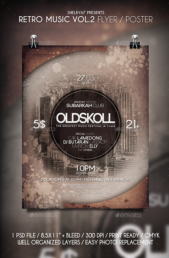 Retro Music Flyer / Poster Vol 2 - Events Flyers