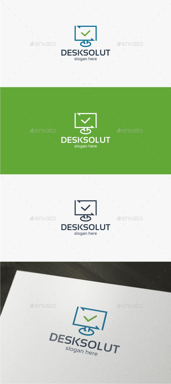 Desktop Solution - Logo Template - Objects Logo Templates