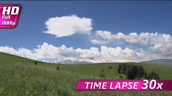 Clouds Float Over the Meadows