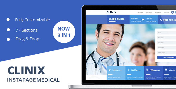 CLINIX Medical Instapage Landing Page  - Instapage Marketing