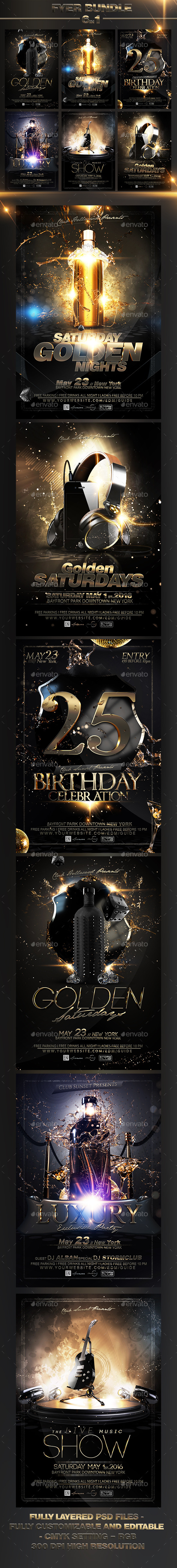 Luxury Flyer Bundle V4 - Events Flyers