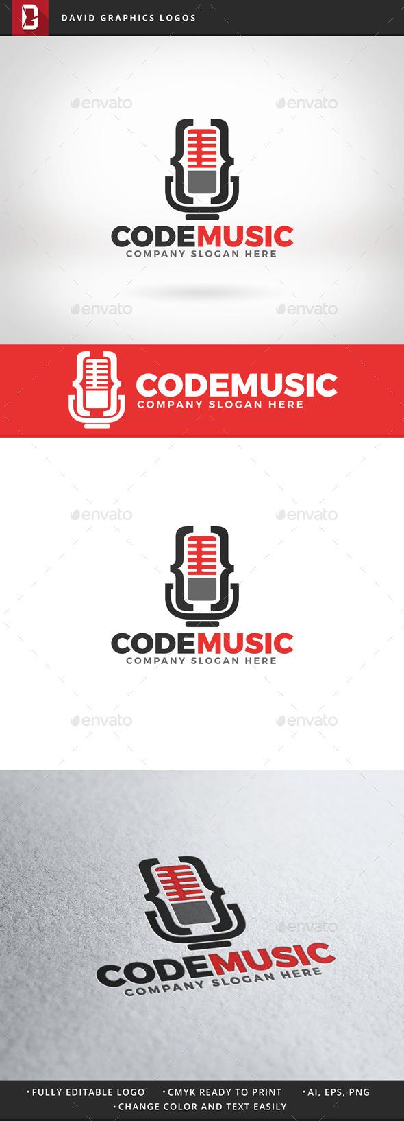 Code Music Logo - Objects Logo Templates