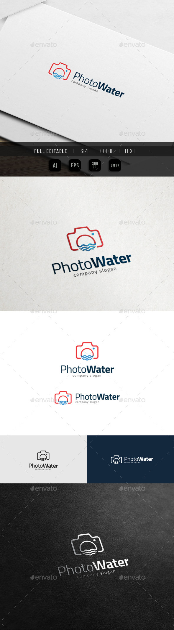 Beach Sunset Photography - Water Camera - Objects Logo Templates