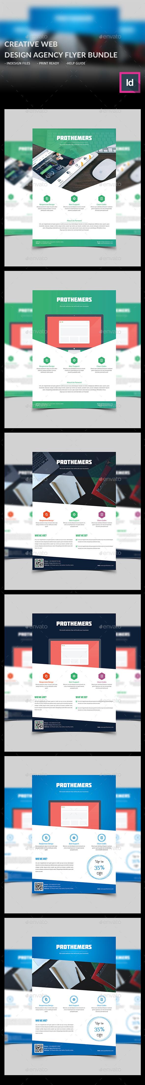 Creative Web Design Agency Flyer Bundle