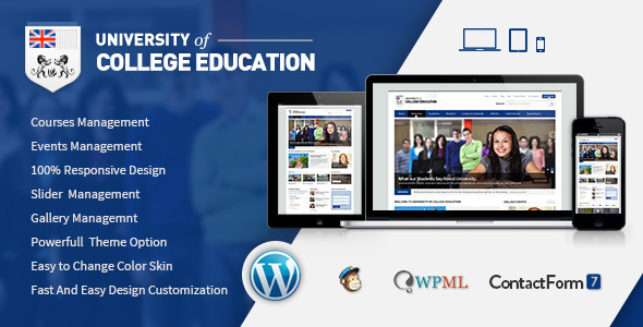 University Education Responsive WordPress Theme