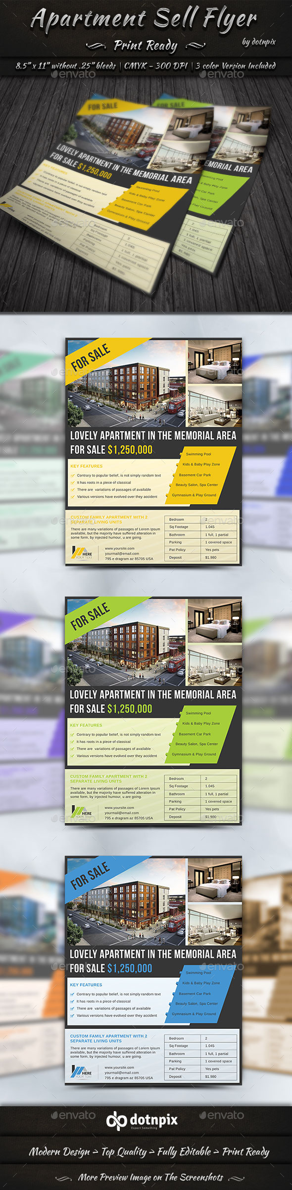 Apartment Sell Flyer by dotnpix | GraphicRiver