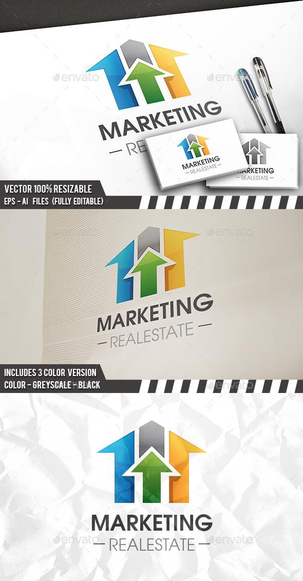 Real Estate Market Logo Template - Buildings Logo Templates