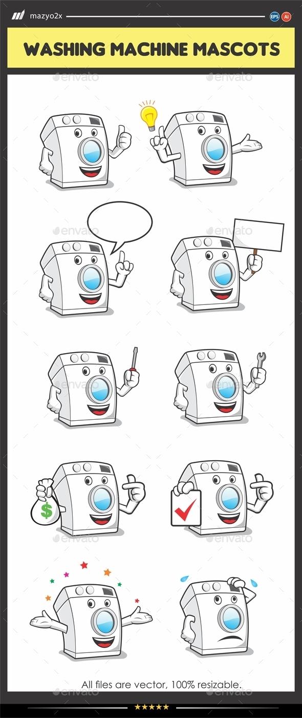 Washing Machine Mascot - Miscellaneous Characters