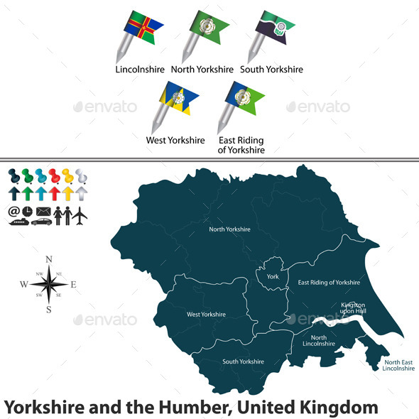 Yorkshire and the Humber, United Kingdom - Travel Conceptual
